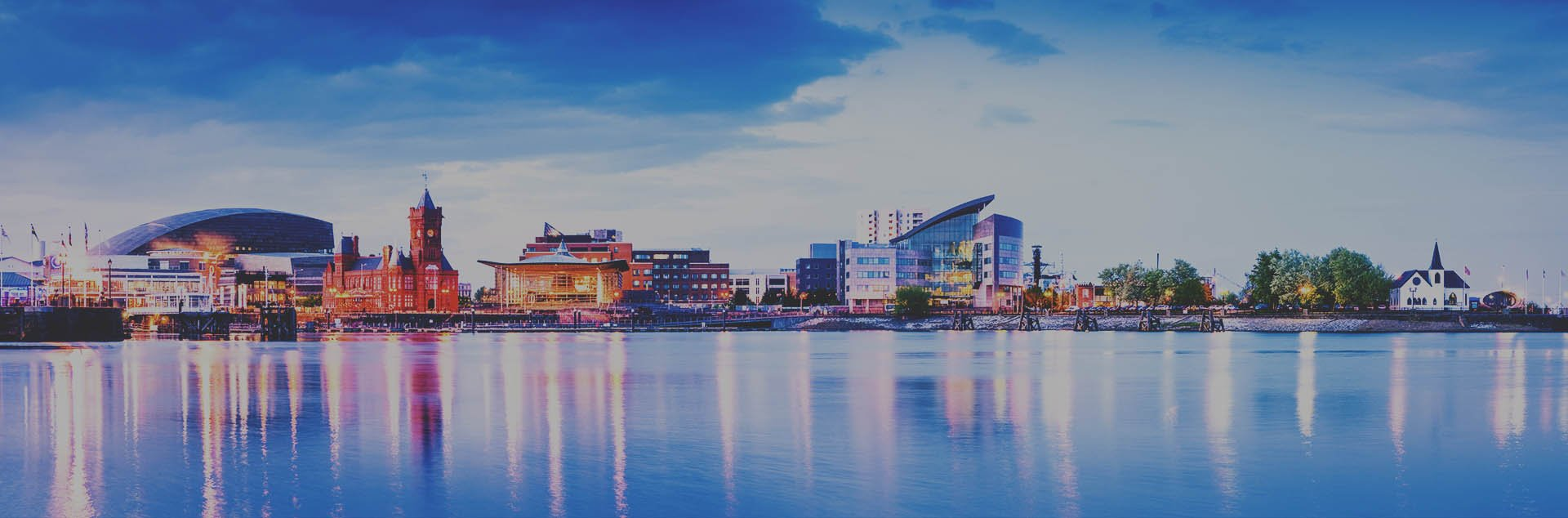 Looking over Cardiff Bay